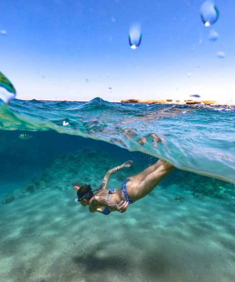 Woman Enjoy Snorkeling In The Red Sea